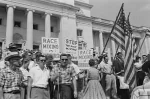 Rally protesting the integration of Central High School, Little Rock, Arkansas, 1959. Source: Library of Congress