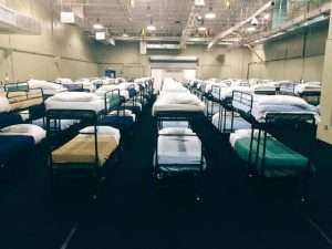 Empty beds at the Homestead Temporary Shelter for Unaccompanied Children in 2016